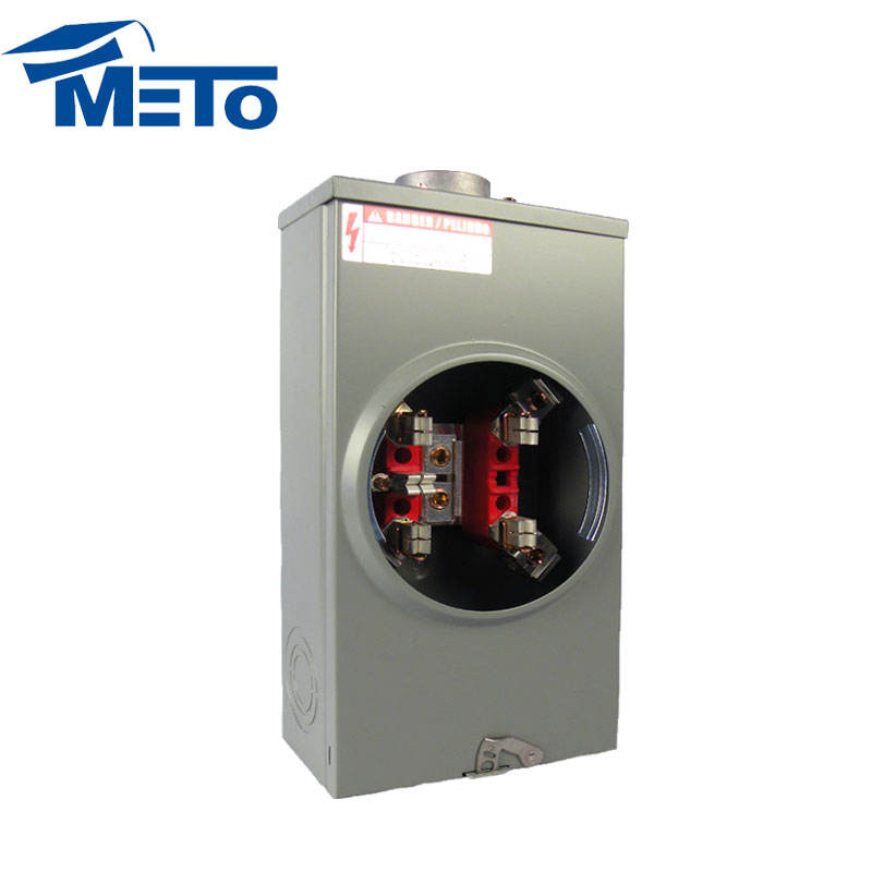 Harga rendah 200 amp dual 5th terminal jaw gang Persegi Basis meter socket