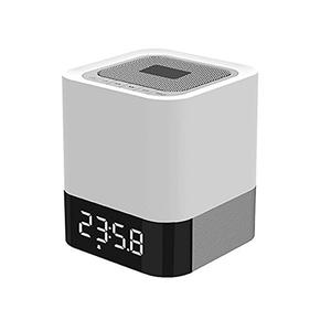Hot Selling Hifi Subwoofer Portable bluetooth Wireless LED Light Speaker with Built-in Alarm Clock
