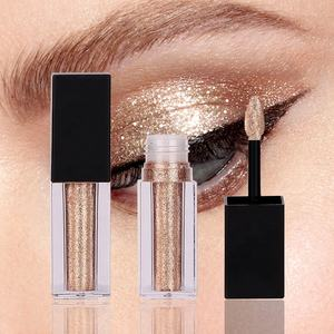 L112 Custom single diamond eye shadow makeup private label glitter liquid eyeshadow