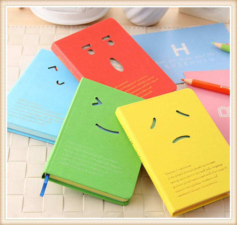 kawaii smile face mini coil notebook