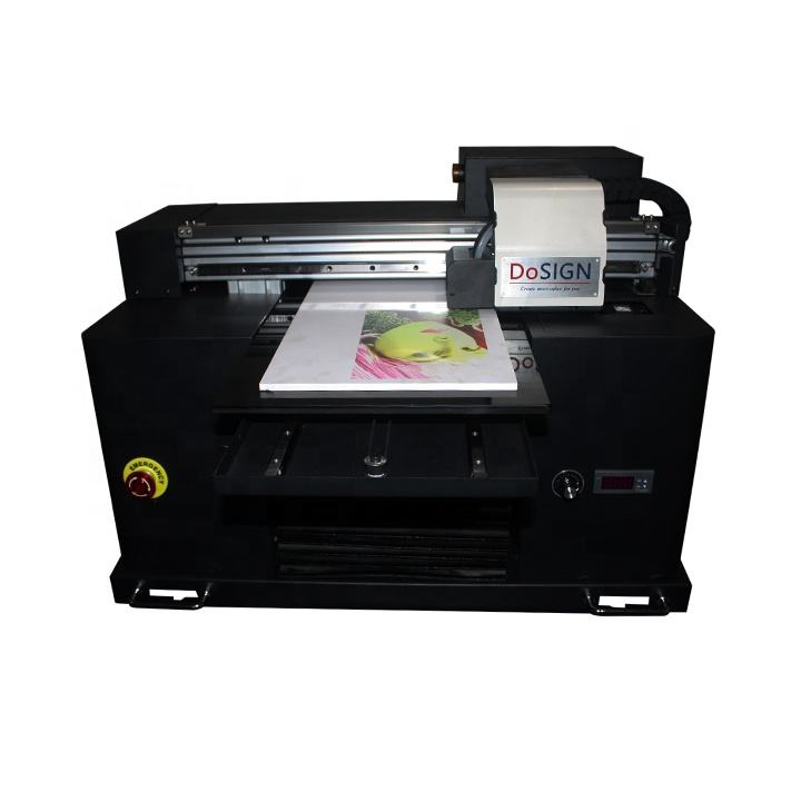 A3 Size UV Flatbed Printer for Phone Case / Pen / box / lighter Metal / Glass / USB / CD / Card Printing