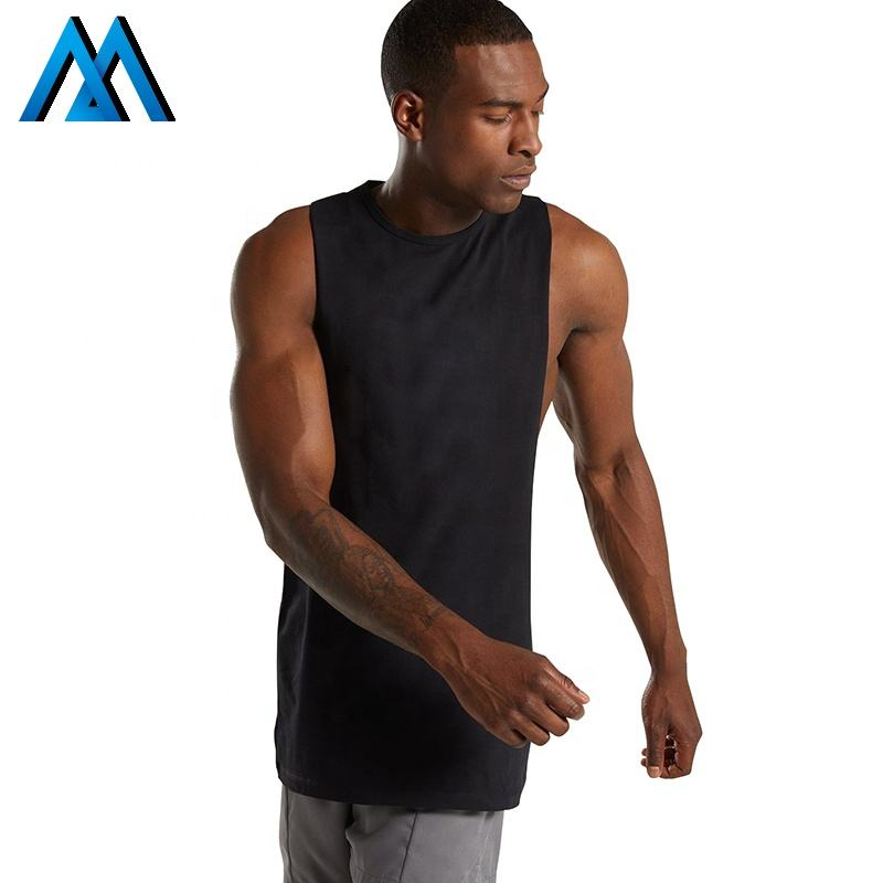 Sports Clothing Plain Man Extreme Dropped Armhole Blank Workout Athletic Male Fitness Custom Stringer Gym Mens Tank Top Singlet