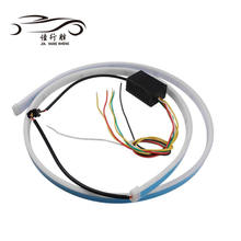 New Arrival 120cm Flexible Tube lihgt Dual color DRL Car Rear Tail LED Trunk Strip Light with Brake Turn Signals Flash Warning