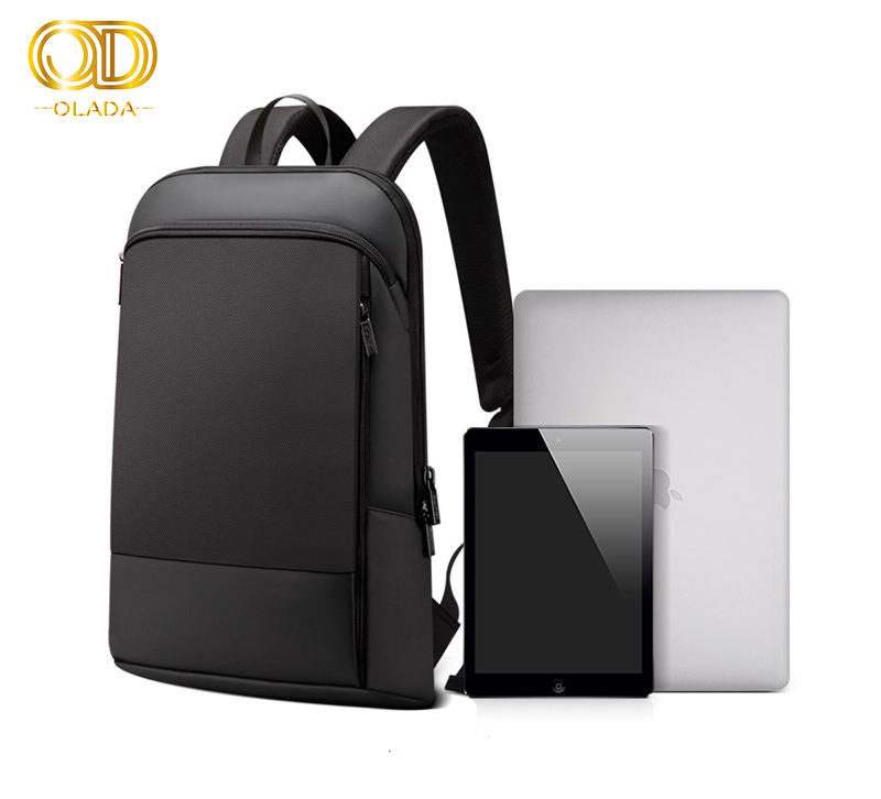 15.6 inch Office Work Thin Men Backpack Business Bag Black Ultralight Laptop Backpack men