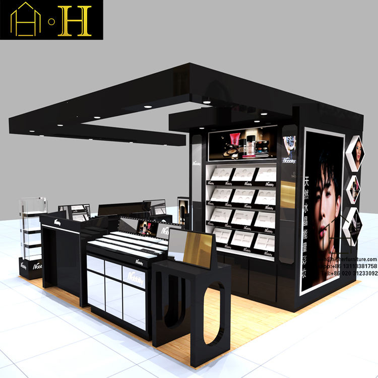 Functionele winkelcentrum retail make-up display stand cosmetische kiosk te koop