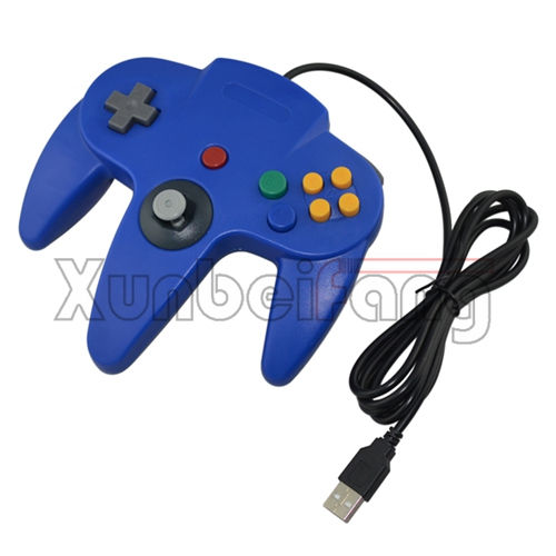 bedrade usb gamepad voor pc usb joystick controller voor n64 laptop blue