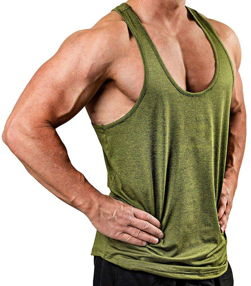 Men Sleeveless Retro Sport Running Muscle Shirts Plain Gym Fitness Athletic Running Vests