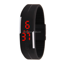 Hotselling LED Digital Sport Watches Silicone Rubber Fitness Bracelet Wrist Watches