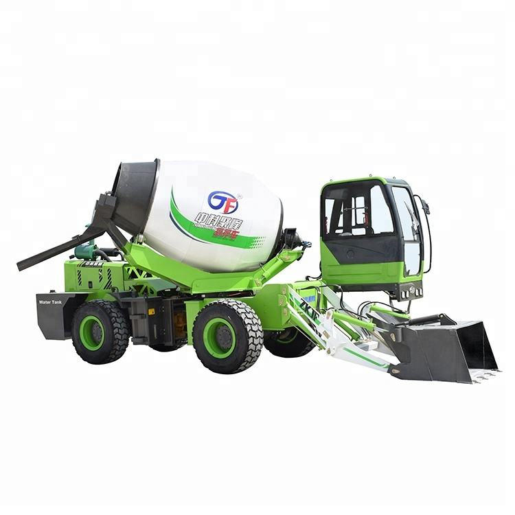Durable 3.5 CBM self loading concrete mixer for sale