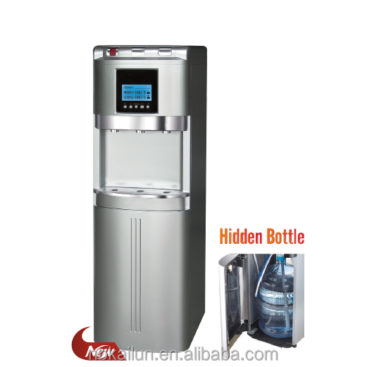 Bottom loading/hidden bottle/bottle bottom water dispenser