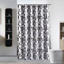 High End Waffle Check Quality Shower Curtain for Hotel