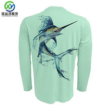 New design SPF 50+ 88% polyester 12%spandex 165gsm UV protected customized Fishing Shirt