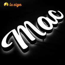 Waterproof stainless steel backlit front lighted sign 3D signs logos channel letter