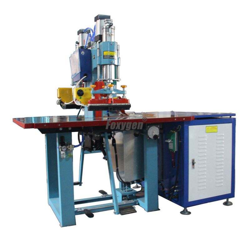 China factory price Speed 5-8 KW High Frequency Two heads PVC sheet welding machine