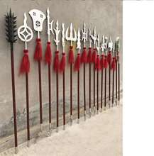 A Whole Set of Traditional 18 Pieces of Wushu Long Weapons 18 Weapons of Kung Fu Eighteen Arms of Wushu