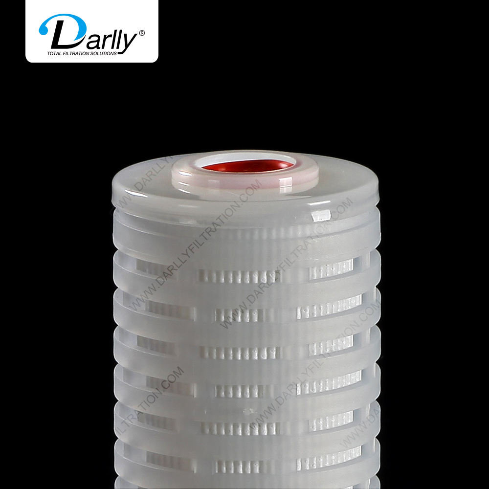Darlly PVDF membrane Pleated Filter Cartridge for Sterile APIs EyeDrops lyophilized powder Vaccine serum biological products