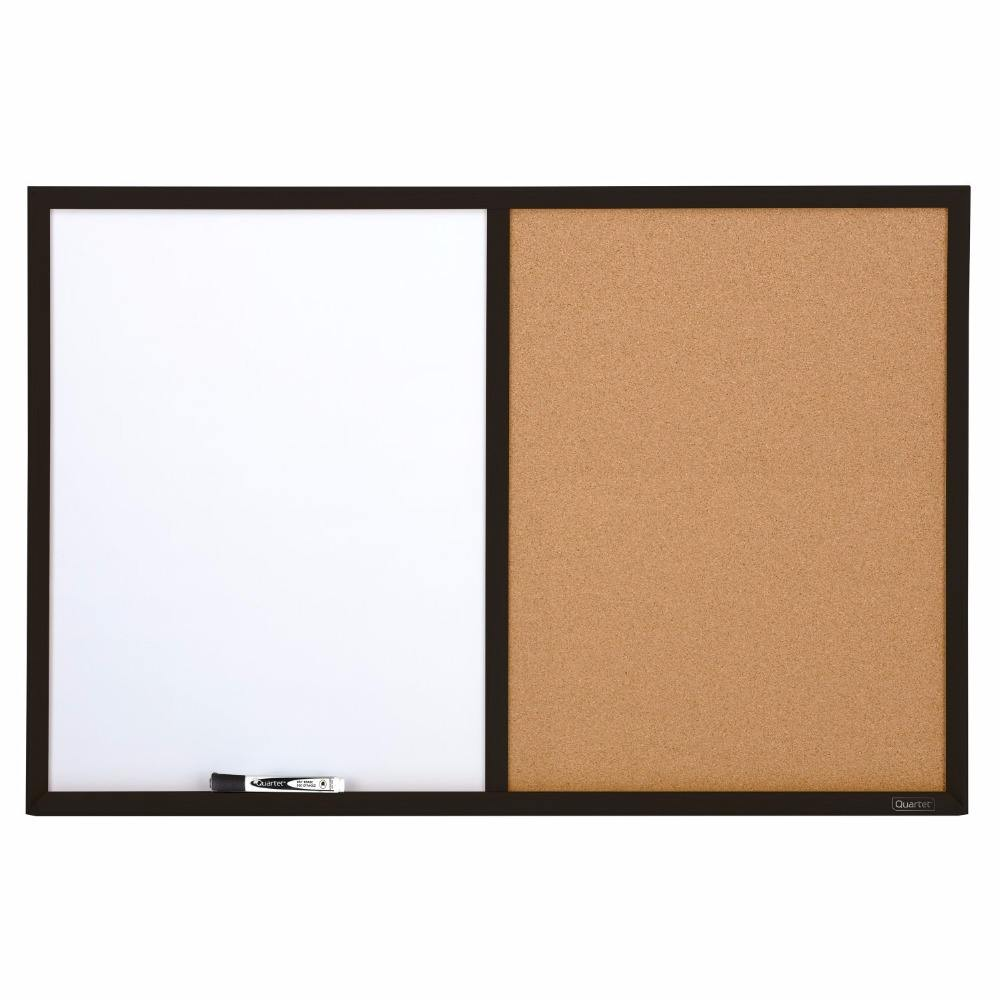School dry erase cork bulletin board whiteboard cork board with black frame