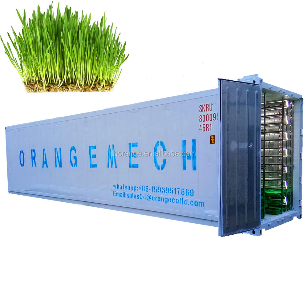 40 HQ Hydroponics Fodder System Container For Farm Hydroponic Growing Systems Fodder