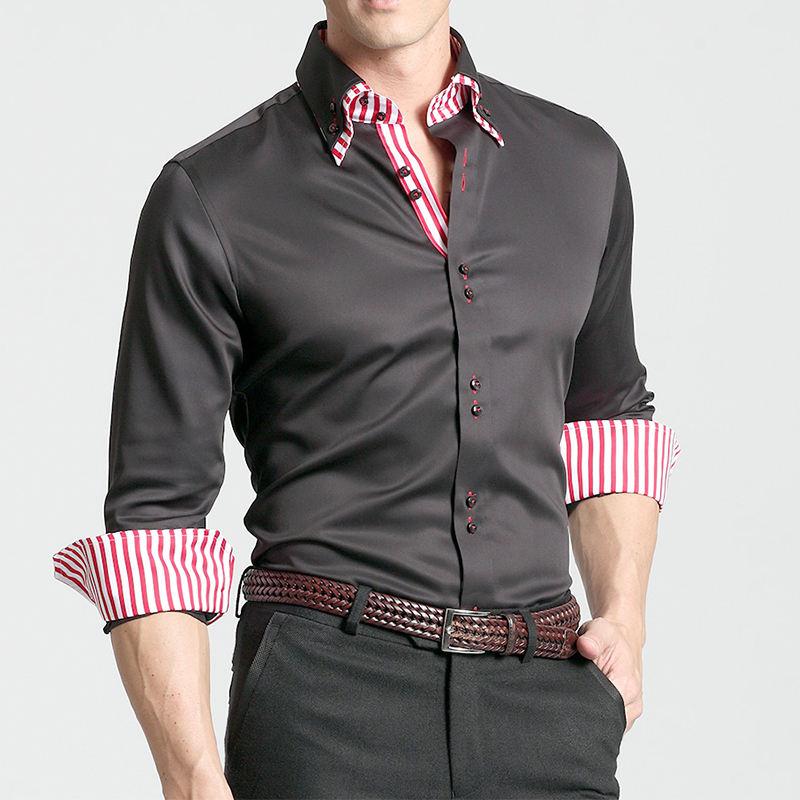Последние моды дизайн Мужская платье multi рубашка в клетку
