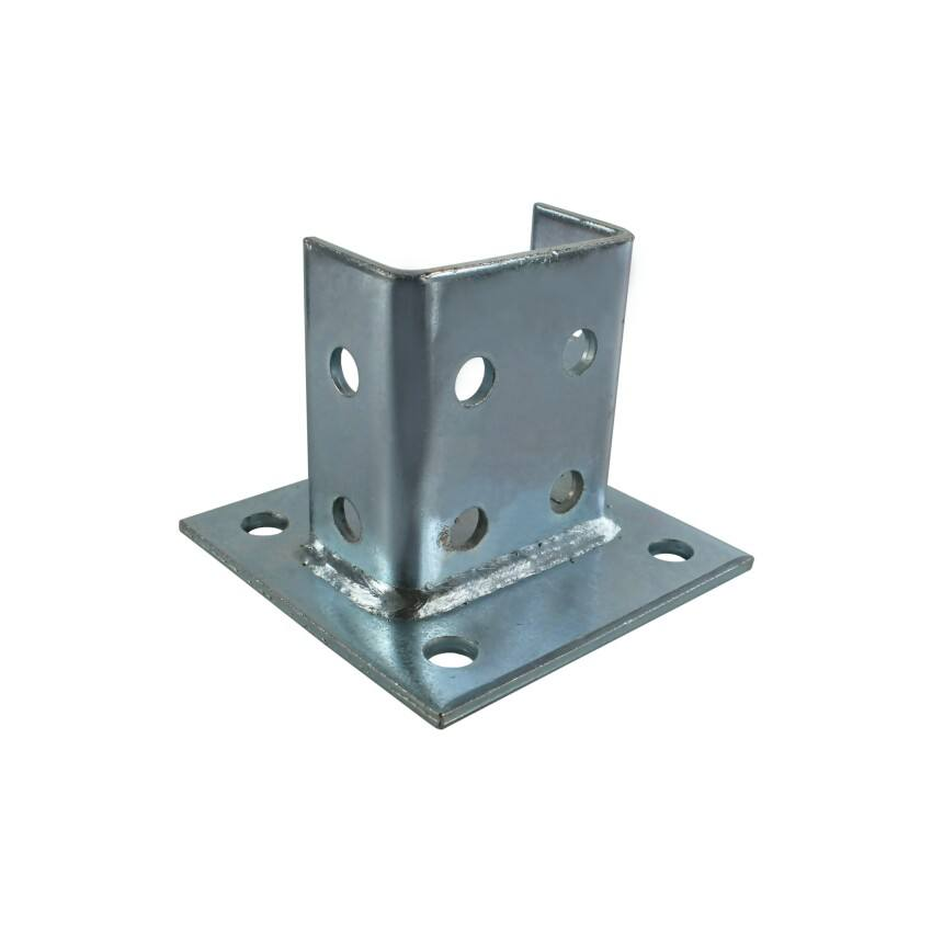 Strut Fitting galvanized metal steel channel post base