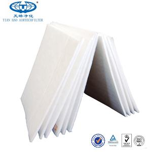 Tian Hao F5/F6 Density Gradient Efficiency Air Ceiling Filter Cotton Synthetic Fiber Filter Roll