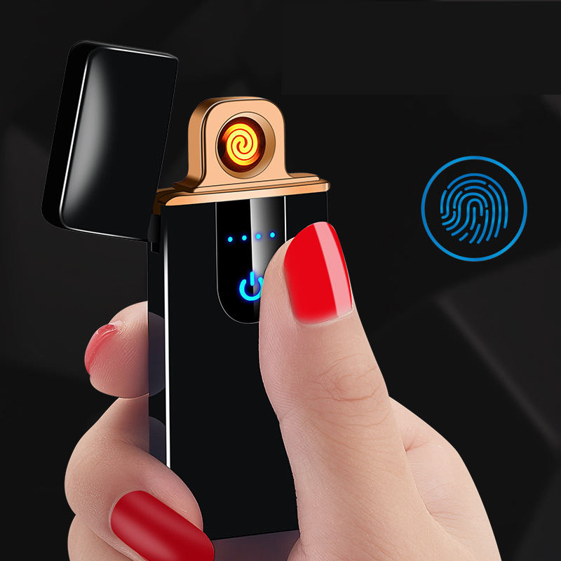 Touch-senstive Switch Lighter Cigarette Lighter USB Lighters Rechargeable Electronic for Smoking