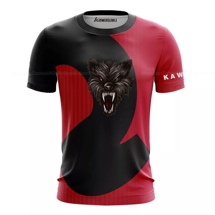 Promotion Cheap All Over Sublimation Printing 100% Polyester Tee T Shirts E-sports Apparel