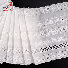 High Quality Wholesale Embroidery Water Soluble Delicate Cotton Flower Lace Trim