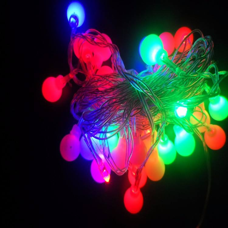 Factory Outlets Festival room garden decorative 17mm round small ball christmas light led string fairy light