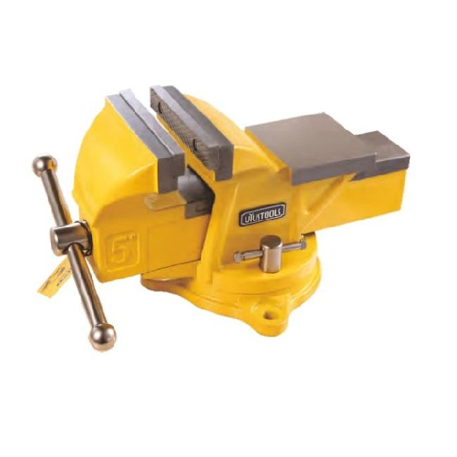 Bench vise with swivel base