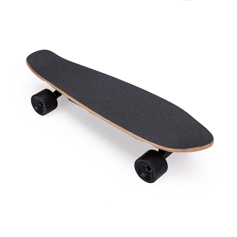 Professional fish shape electric skateboard maple wood skateboard with good trucks