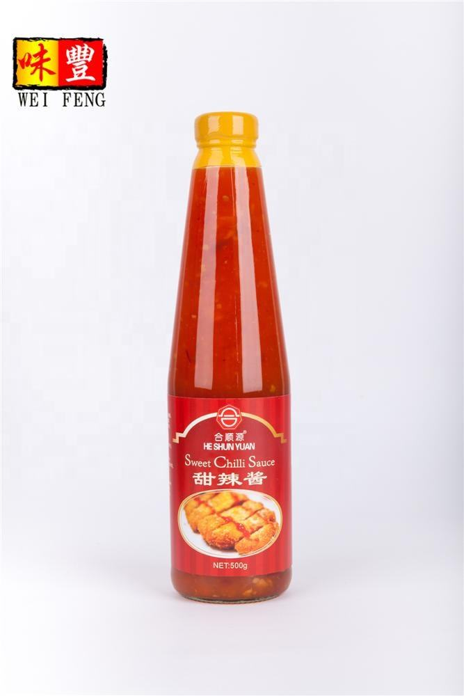 BRC HACCP HALAL Zertifizierung OEM china knoblauch paste 320g glas flasche süße chili dipping sauce chili sauce groß