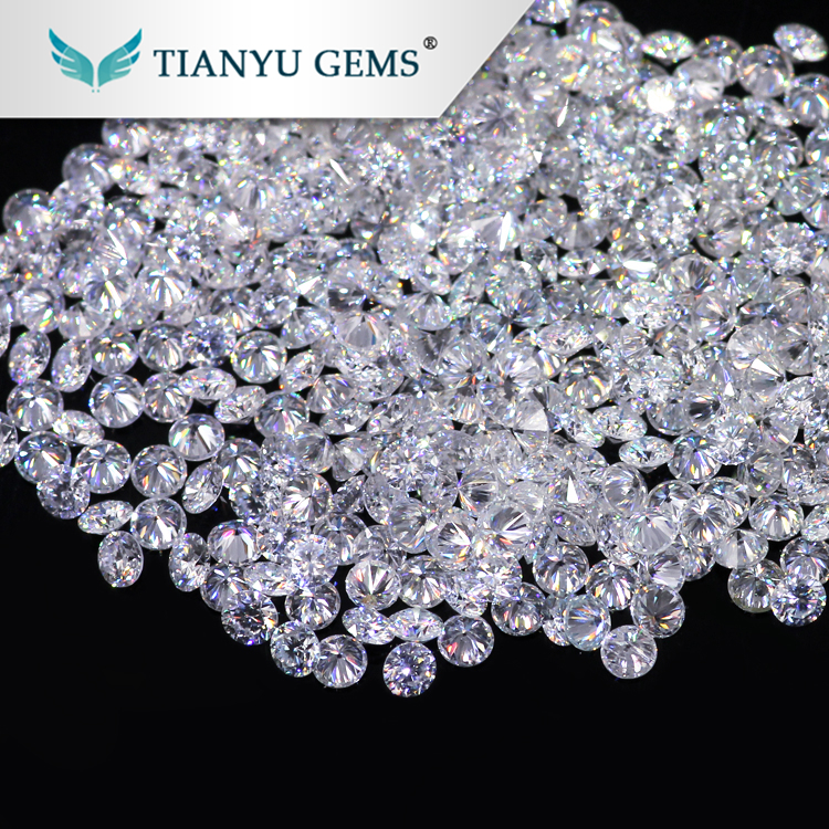 Wholesale 2.7mm Round Brilliant Cut Synthetic Loose White melee Moissanite