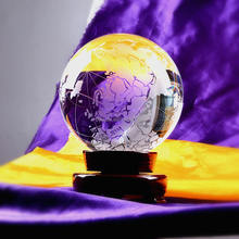 K9 Crystal Big World Globe Sphere earth Ball For Home Decoration 30mm-400mm