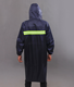 Waterproof long raincoat men rain coat strong high quality hiking riding work PVC material with reflective tape hi viz