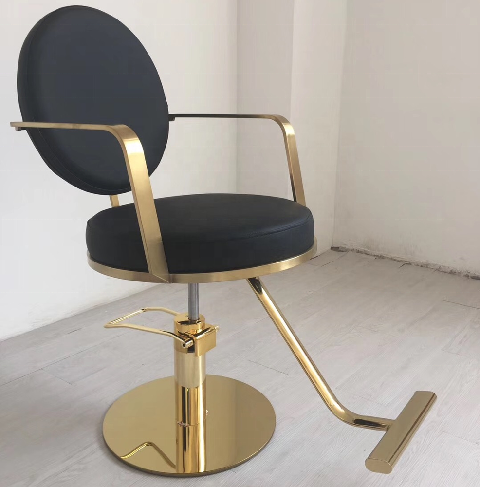 Gold metal salon styling chair stylist chair ZY-LC280
