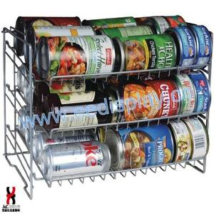Silver stackable Can Rack Organizer