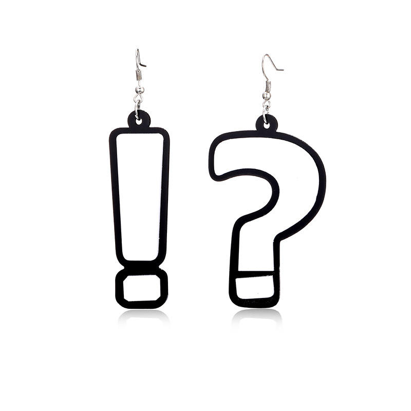 Yiwu C&L Jewelry Question mark earrings jhumka design women acrylic earrings