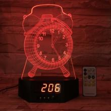 Alarm Clock 3D Illusion Led Light Bed Room 3D Light