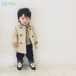 Q2-baby High Quality New Autumn Fashion Double Breasted Baby