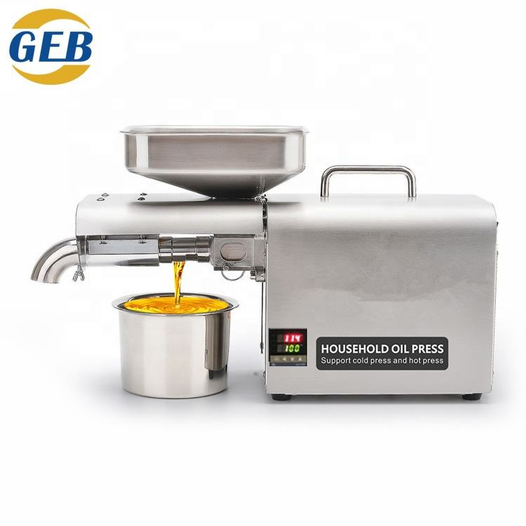 multifunctional Stainless steel Automatic Mini Seed oil extractor machine Cold oil pressed expeller Peanut oil press machine
