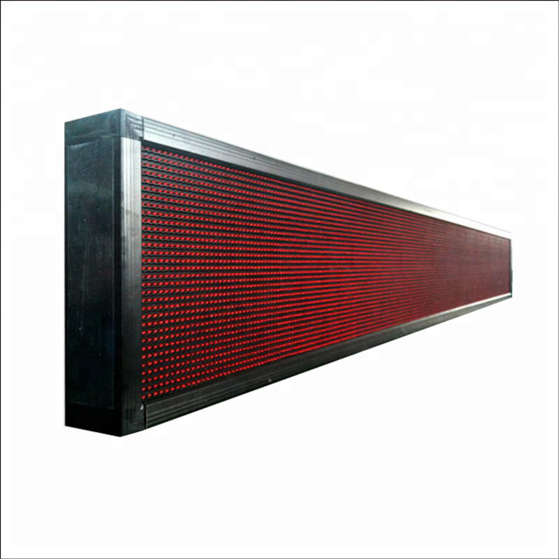 P10 single red billboard running message moving scrolling led sign display