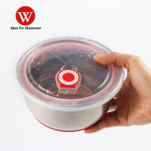 wholesale storage food 304 ss salad Mixing Bowl with Clear seal Lid For Cooking , Baking , Serving