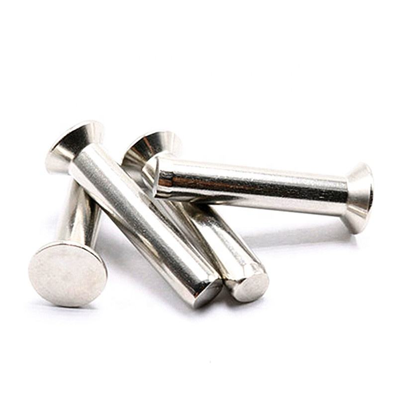 สแตนเลส DIN661 Countersunk Solid Rivets Semi Tubular Solid Rivets