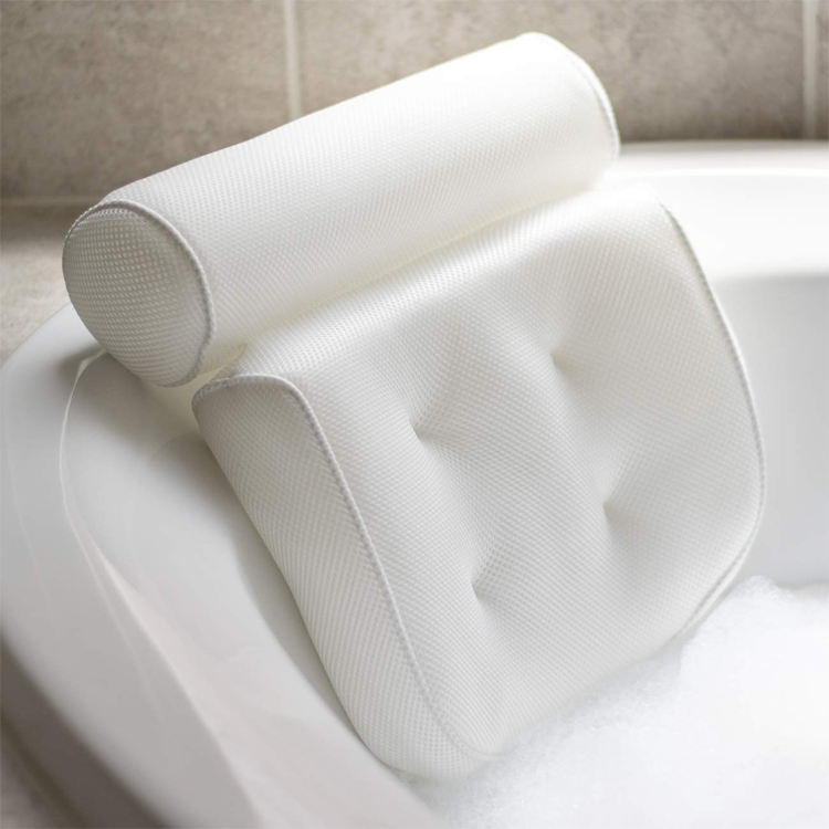 Indoor Bathtub [ Pillow Bathtub ] Bathtub Pillow Wholesale Non-Slip 3D Mesh SPA Bath Pillow Luxury Bathtub Pillow