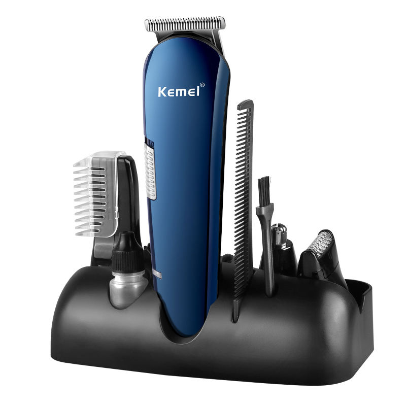 Kemei Professional Rechargeable multi-head Hair Clipper Set Nose Hair Trimmer Shaver electric hair trimmer set Wholesale