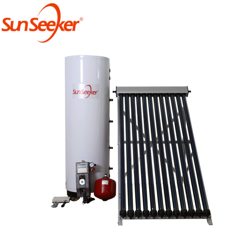 Most popular heat pipe home system high efficiency induction split 500l solar water heater