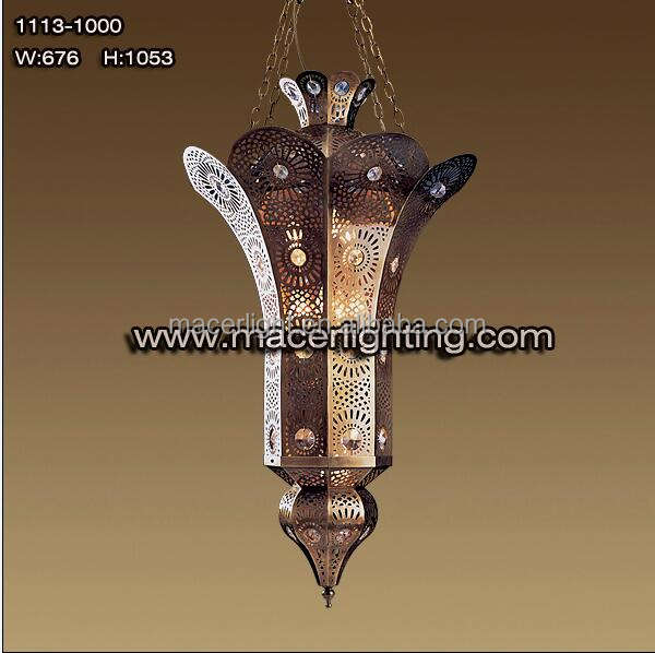 Messing hotel decoratieve morccan grote hanglamp