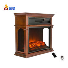freestanding 3 sided view modern flame led mdf electrical fireplace mantel