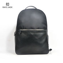 China supplier customized black leather backpack bag for women